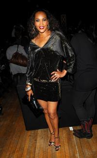 Vivica A. Fox at the Baby Phat Fall 2008 fashion show during the