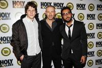 Jesse Eisenberg, Mark Ivanir and Danny Abeckaser at the premiere of