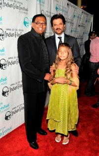 Arnold Peter, Rachel Peter and Anil Kapoor at the 7th Annual Indian Film Festival.