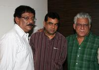 Priyadarshan, Paresh Rawal and Ompuri at the party in honour of the crew of Kanchivaram in Mumbai.