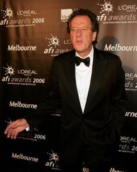 Geoffrey Rush in the awards room at the L'Oreal Paris AFI 2006 Industry Awards.