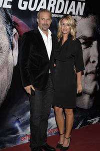 Kevin Costner and his wife Christine at the premiere of