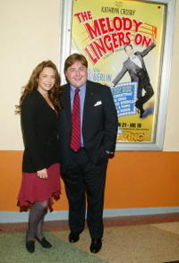 Mary Crosby and Producer Tripp Hornick at the opening of