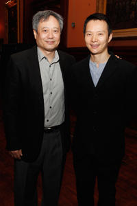 Director Ang Lee and choreographer Shen Wei at the Shen Wei Dance Arts Tenth Anniversary Gala Celebration in New York City.