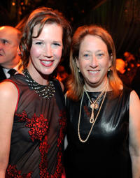 Heidi Levitt and Guest at the after party of the 2012 Golden Globe Awards in California.