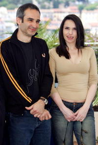 Beatrice Dalle and Olivier Assayas at the 57th International Cannes Film Festival.