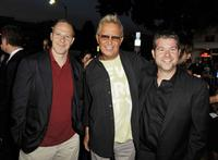 Toby Emmerich, David R. Ellis and Eric Bress at the premiere of