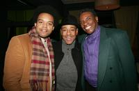 Keith David, Eric Lewis and Giancarlo Esposito at the 'The Last Mimzy' NewLine Cinema 40th Anniversary dinner and cocktail party.