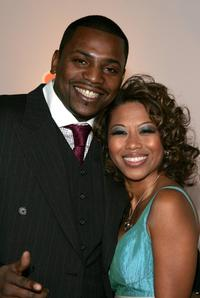 Keith David and guest at the NBC/Universal Golden Globe After Party.