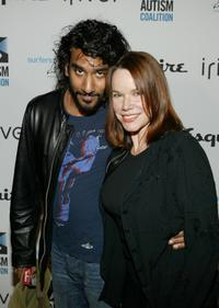 Naveen Andrews and Barbara Hershey at the Endless Summer Party benefitting the Autism Coalition and Surfers Healing.