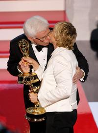 Ellen DeGeneres and Phil Donohue at the 34th Annual Daytime Emmy Awards.