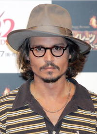Johnny Depp at a press conference for