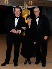 Alec Baldwin, Mary Jo Deschanel and director Caleb Deschanel at the Academy of Motion Picture Arts and Sciences Inaugural Governors Awards.