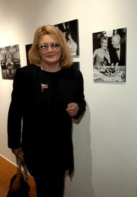Angie Dickinson at the opening of the exhibit