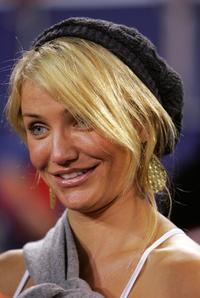 Cameron Diaz at New Jersey for a game between Philadelphia Eagles and the New York Giants.