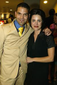 Guillermo Diaz and Alanna Ubach at the after party of