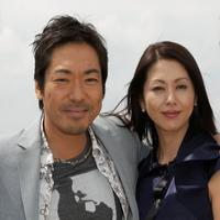 Teruyuki Kagawa and Kyoko Koizumi at the cast photocall of