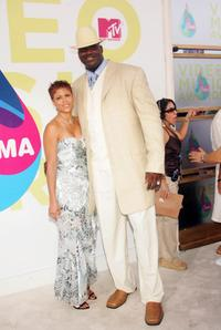 Shaunie and Shaquille O'Neal at the 2004 MTV Video Music Awards.
