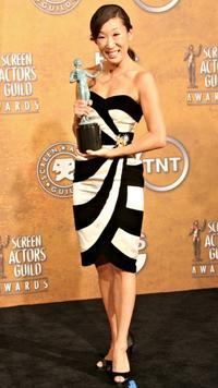 Sandra Oh at the 12th Annual Screen Actors Guild Awards.