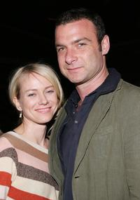 Liev Schreiber and Naomi Watts at the Fifth Annual Tribeca Film Festival Tropfest pre-party.
