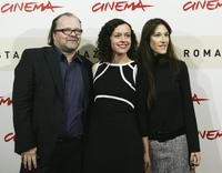 Producer Stefan Arndt, Maria Schrader and writer Zeruya Shalev at the promotion of