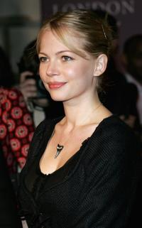 Michelle Williams at the London Party.