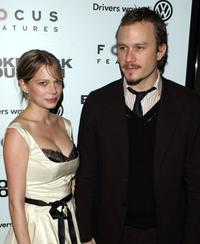 Michelle Williams and Heath Ledger at the premiere of