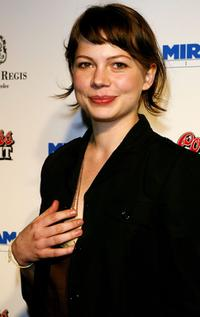 Michelle Williams at the Miramax's Annual Max Awards Pre Oscar party.