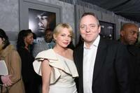 Michelle Williams and Dennis Lehane at the New York special screening of