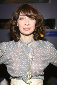 Illeana Douglas at the W VIP lounge during Mercedes Benz Fashion Week.