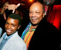 Marc John Jefferies and music producer Quincy Jones at the after party of the premiere of