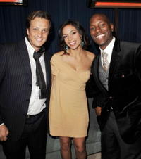 Director Gabriele Muccino, Rosario Dawson and Tyrese Gibson at the after party of the premiere of