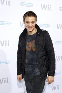 Jeremy Renner at the launch party for the Nintendo