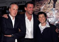 Bruno Heller, Ray Stevenson and Carolyn Strauss at the premiere of