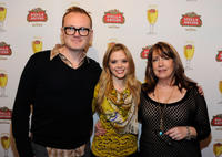 Pat Healy, Dreama Walker and Ann Dowd at the Stella Artois Lounge by Ally B in Utah.
