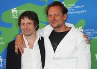 Mathieu Amalric and Damien Odoul at the L'Histoire De Richard O. photocall during the 64th Venice Film Festival.