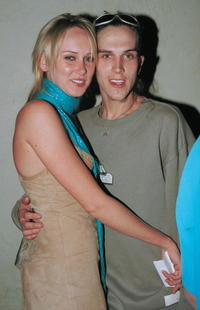 Kim Stewart and Jason Mewes at the Lounge club in California.