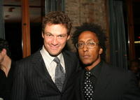 Dominic West and Andre Royo at the premiere of