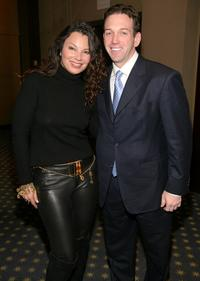Fran Drescher and Andrew Borrok at the private screening of