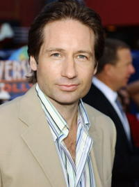 """David Duchovny at the world premiere of """"Connie and Carla"""" in Universal City, California."""