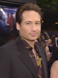 """David Duchovny at a screening of """"Evolution"""" in Westwood, CA."""