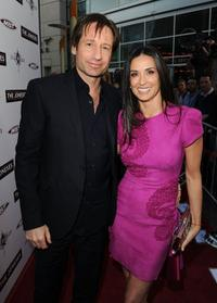 David Duchovny and Demi Moore at the California premiere of