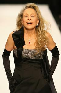 Faye Dunaway at the Fashion Relief Show during London Fashion Week 2007.