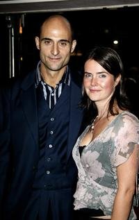 Mark Strong and his guest at the premiere of