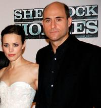 Rachel McAdams and Mark Strong at the press conference of