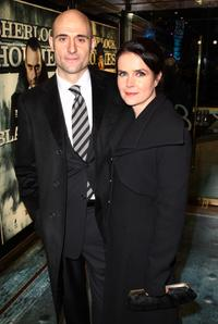 Mark Strong and Guest at the London premiere of