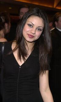 Mila Kunis at the 2nd Annual Hollywood Makeup Artist and Hair Stylist Guild Awards.