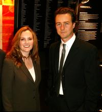 Patricia Hearst and Edward Norton at the cocktail reception of