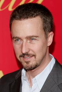 Edward Norton at the Cartier And Interview Magazine Celebrate Love party.