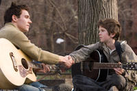 Jonathan Rhys Meyers and Freddie Highmore in